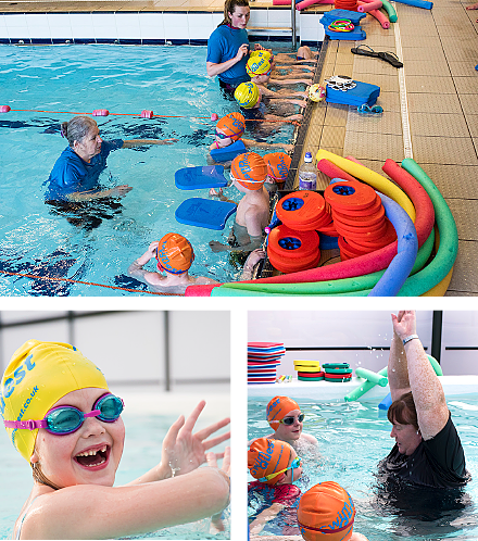 Swim School training and Fun